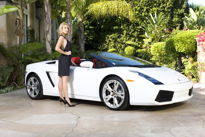 Lamborghini Gallardo Convertible With Model A Beautiful Wo Flickr