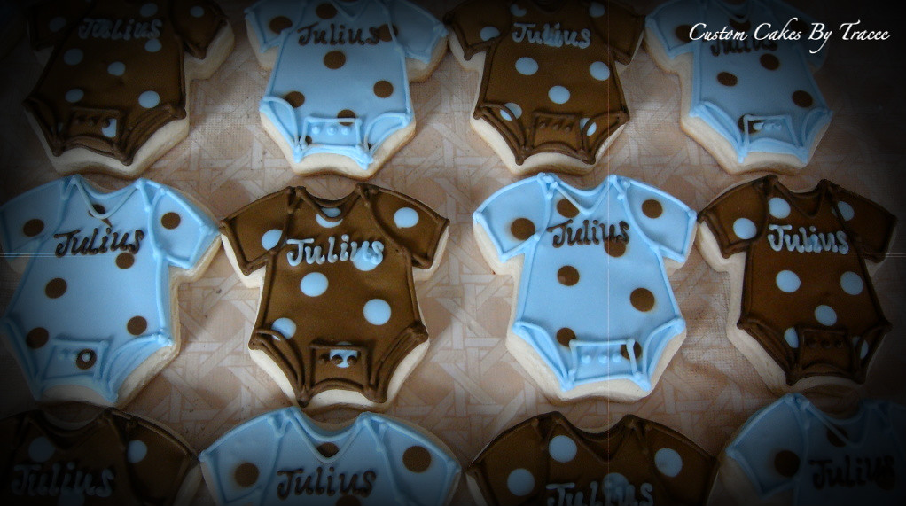 brown and blue baby shower cookies here are a few of the 6
