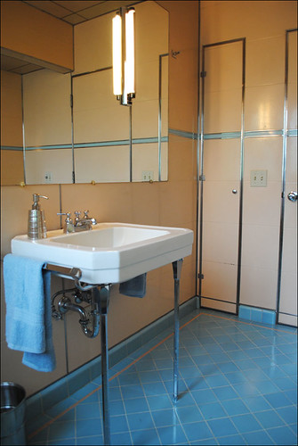 1948 Pink & Blue ORIGINAL Bathroom | by American Vintage Home