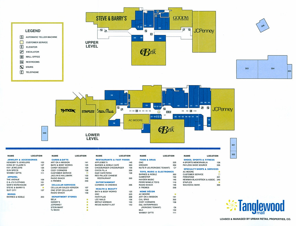 Crossroads Center Mall Map