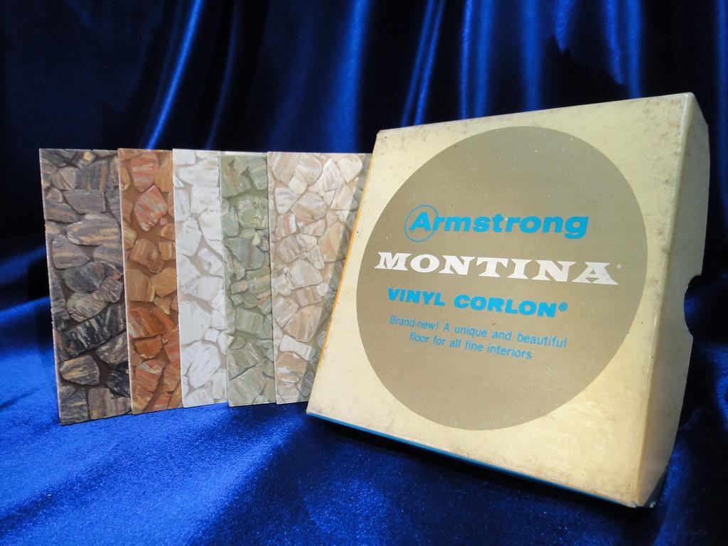 Vintage Armstrong Montina Vinyl Asbestos Sheet Flooring Sa