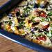 Roasted Vegetables Baked in Golden Batter