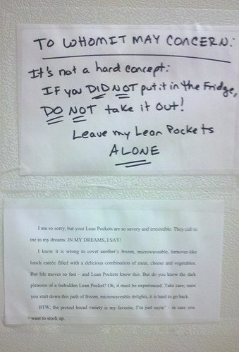 Leave my Lean Pockets Alone! | by passiveaggressivenotes