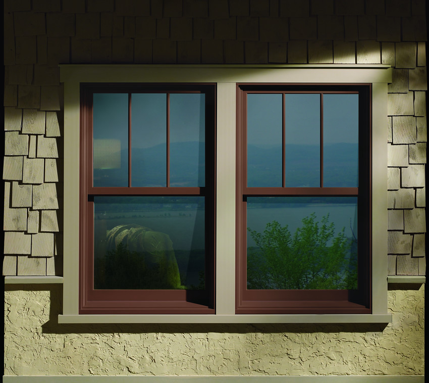 A series double hung windows with exterior trim a series for Window and door visualiser