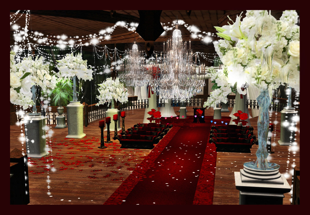 Wine Red Wedding Decoration