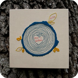 Family Tree Embroidery on OakTree | by TinyApartmentCrafts