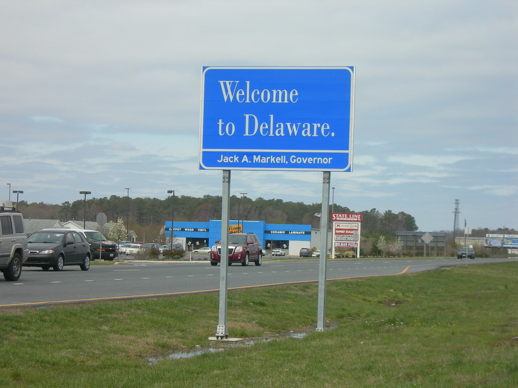Welcome To Delaware Us Hwy 113 At The Maryland State