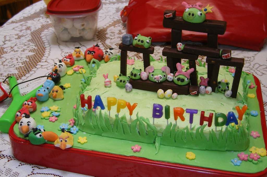 Angry Birds Easter Birthday Cake This Cake Was Make Almost Flickr