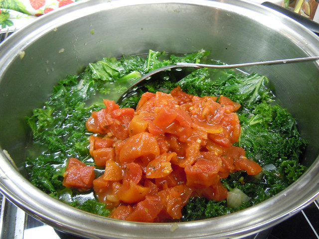 Cooking Vegetarian Kale Soup | On Saturday morning, Jim drov ...