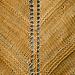 Simple Shawl in sock weight yarn