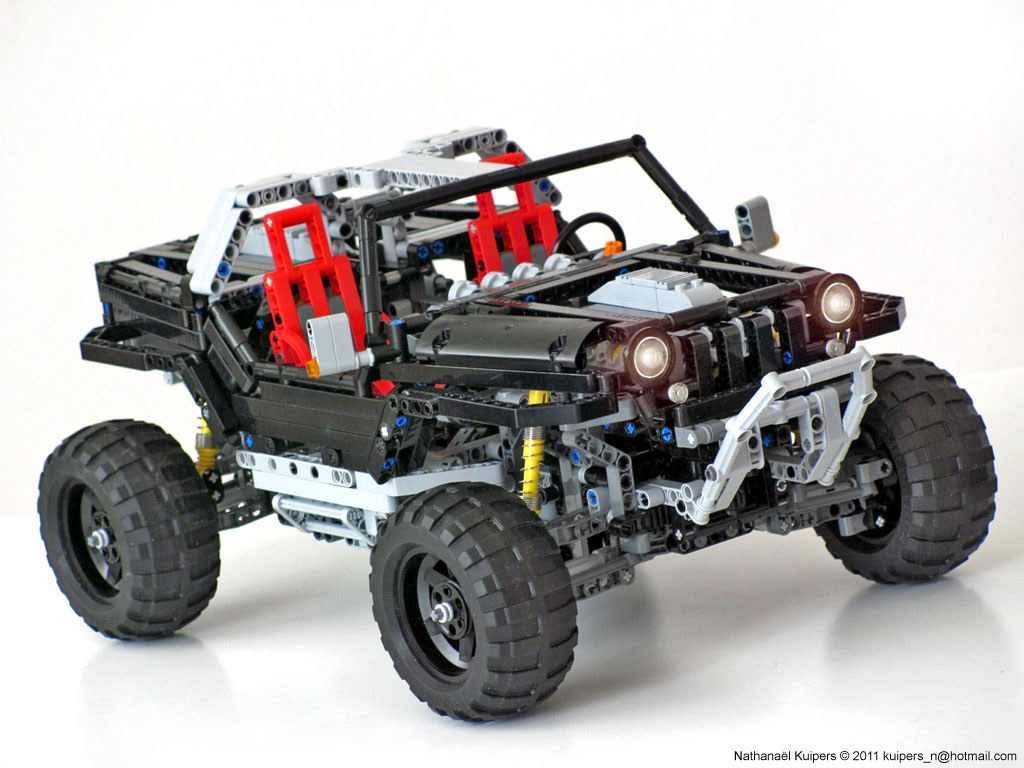 jeep hurricane lego technic jeep hurricane double v8. Black Bedroom Furniture Sets. Home Design Ideas