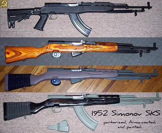 1952 Simonov SKS -- same rifle, different finishes! | by secretazure