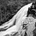 Texture of Roaring Run Falls