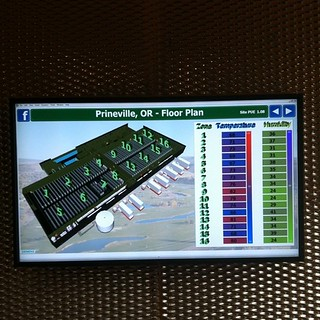 Cooling chart at Facebook datacenter entrance. | by Robert Scoble