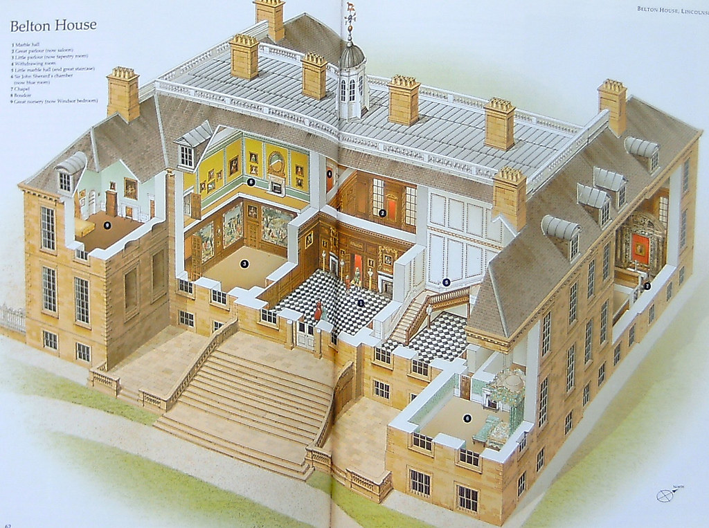 Belton house from the english country house in for English country manor house plans