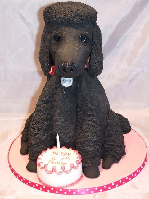 Poodle Birthday Cake