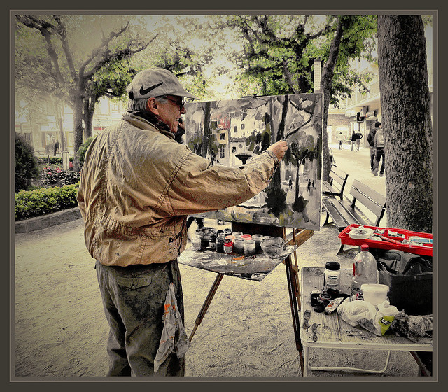 Sant hilari sacalm girona fotos pintores pintando pintor e - Pintores en girona ...