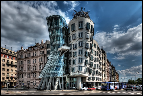 Dancing house prague flickr photo sharing for Unique design milano