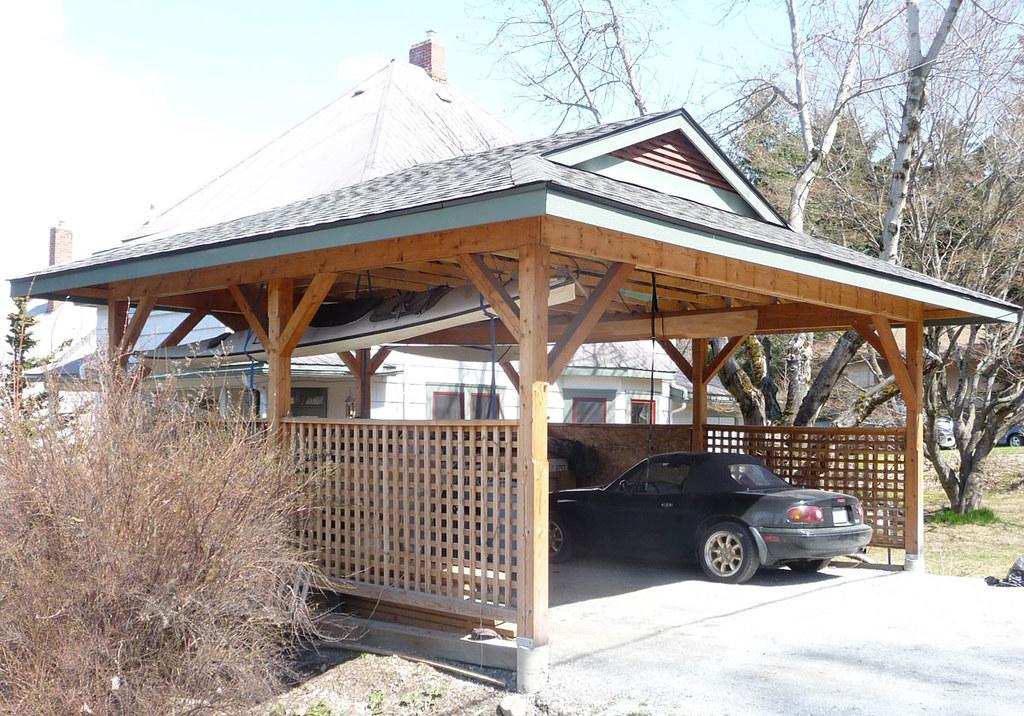 Double Detached Carports : Carport double built in a craftsman