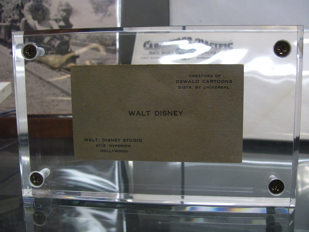 Walt Disney Business Card from Oswald days on display at t… | Flickr