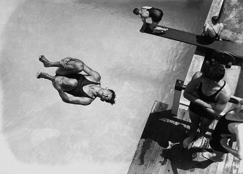 Diving at the Valley Baths, Brisbane, Queensland, 1938 | by State Library of Queensland, Australia