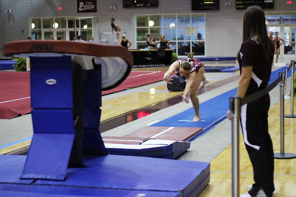 Twu Gymnastics Vault Amy Winczura February 26 Denton