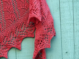 New shawl in Tilli Tomas | by fickleknitter