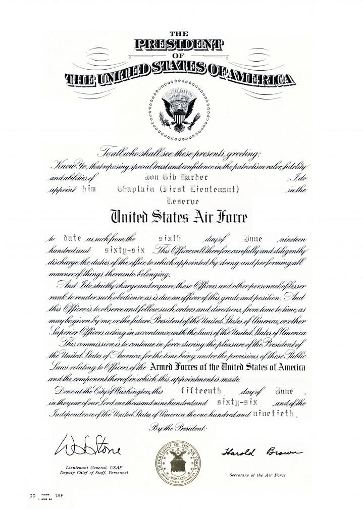 DD Form 1AF: Officer Commissioning Certificate (United Sta…   Flickr