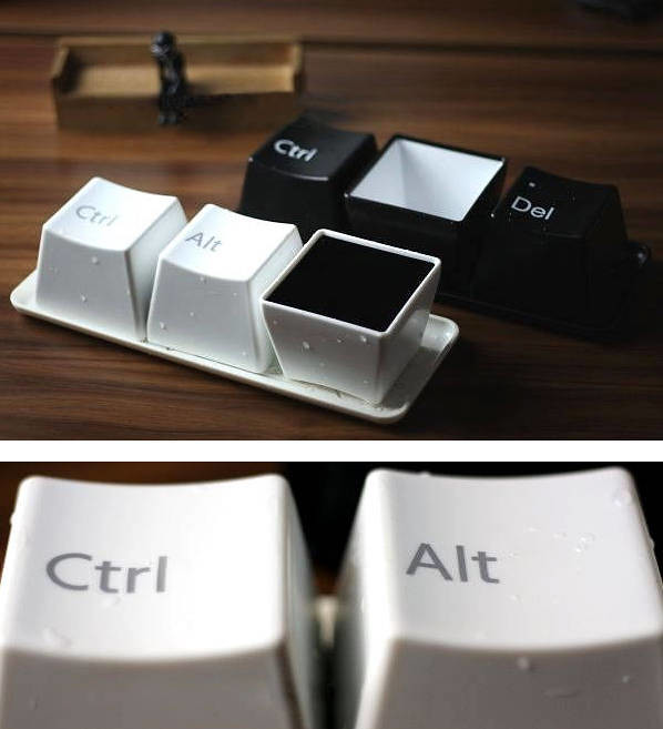 Ctrl Alt Del Shaped Keyboard Cup Ctrl Alt Del Shaped