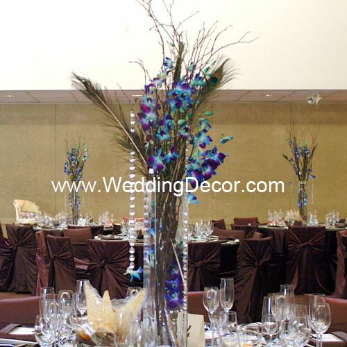 Wedding centerpieces dendrobium orchids birch branches