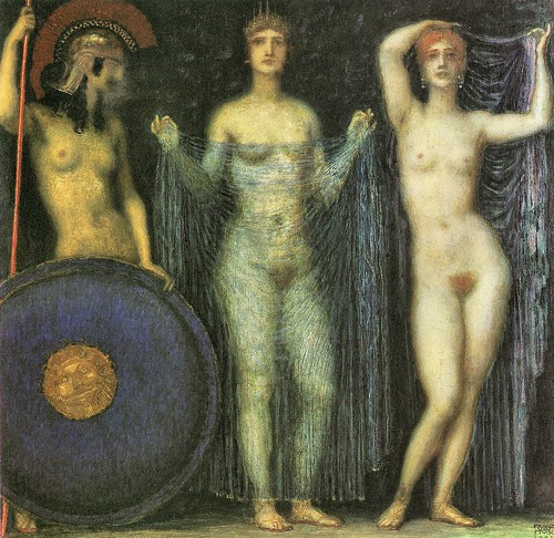 The three Goddesses Athena, Hera and Aphrodite by Franz von Stuck | by Mattia Moretti