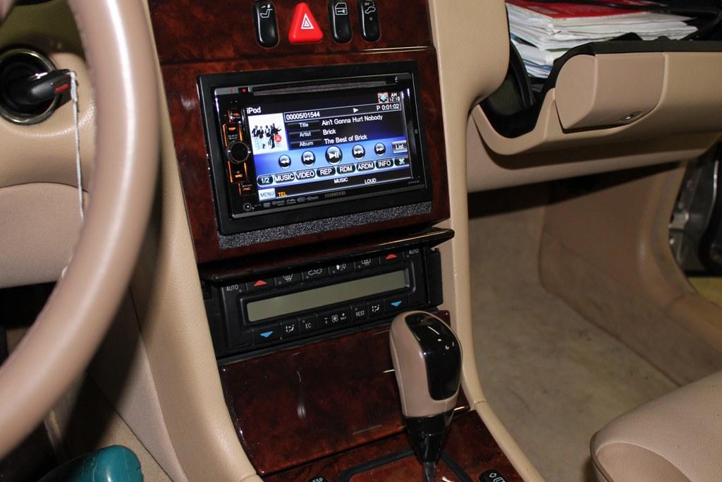 Mercedes e320 2001 custom built dash kit for double din for 2001 mercedes benz ml320 radio