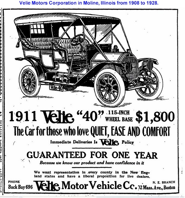 1911 velie motor vehicle 40 moline illinois velie motors for Motor vehicle department il
