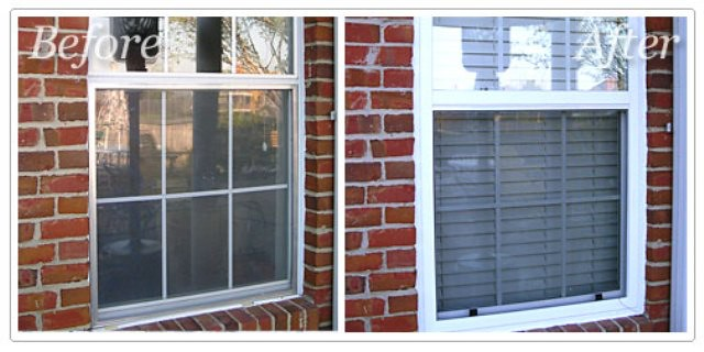 replacement window before and after