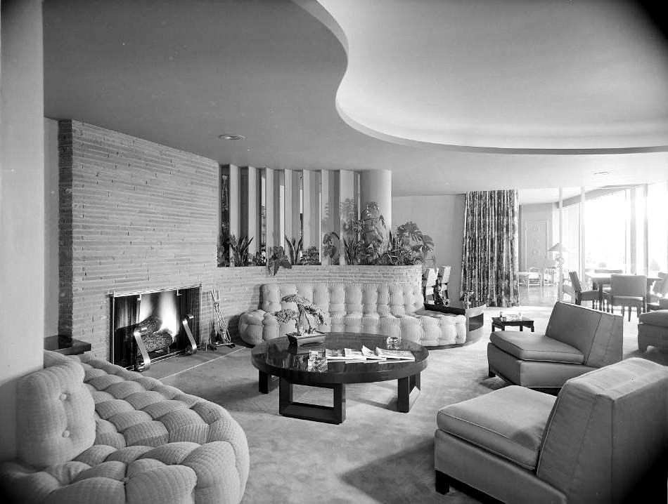 Lilien aaron residence living room los angeles ca 1946 for Living room jazz los angeles