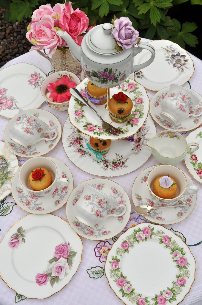 childrens mad tea party tea set pretty pink and green mixe flickr. Black Bedroom Furniture Sets. Home Design Ideas