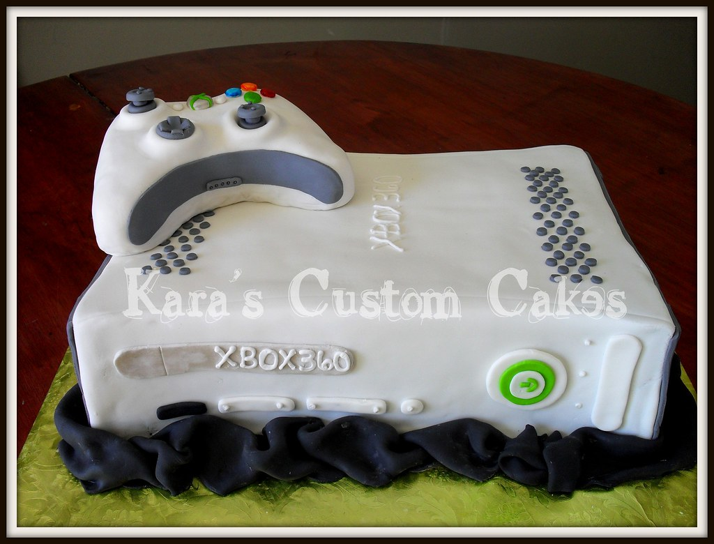 Xbox birthday cake carved and