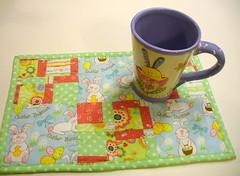 Easter Bunny Mug Rug by CJMc2001