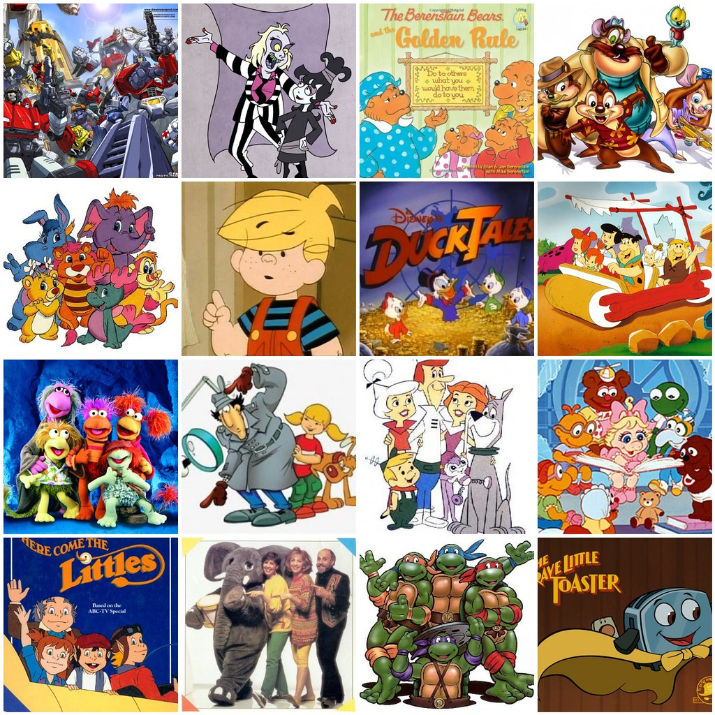 Cartoon Characters Of The 80s : S cartoons inspiration mosaic for i heart the