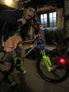 Melody rocking her new LED front wheel! | by Mt Elliott Makerspace