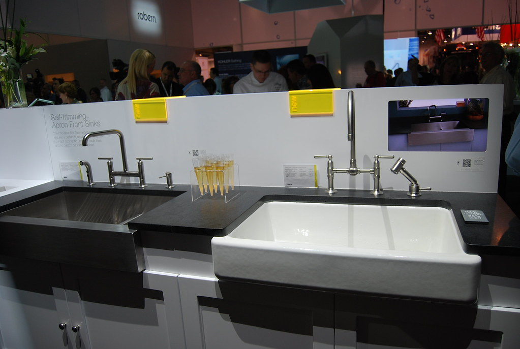 Kbis 2011 kohler apron front sinks kitchen and bath for Kitchen and bath show las vegas