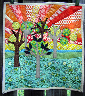Arty trees mini quilt - finished!! | by kirsten67