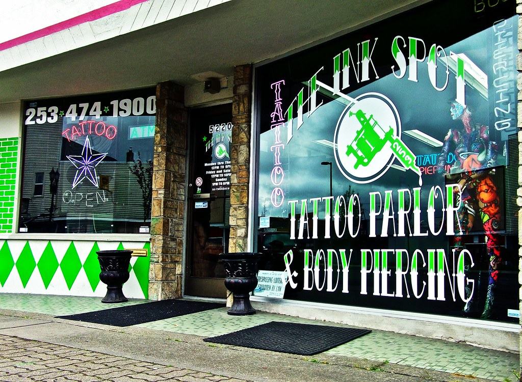 The ink spot tattoo parlor the ink spot tattoo parlor on for Tattoo parlors in tacoma