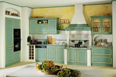 Cucina country verde e muratura  Cucina in stile americano …  Flickr