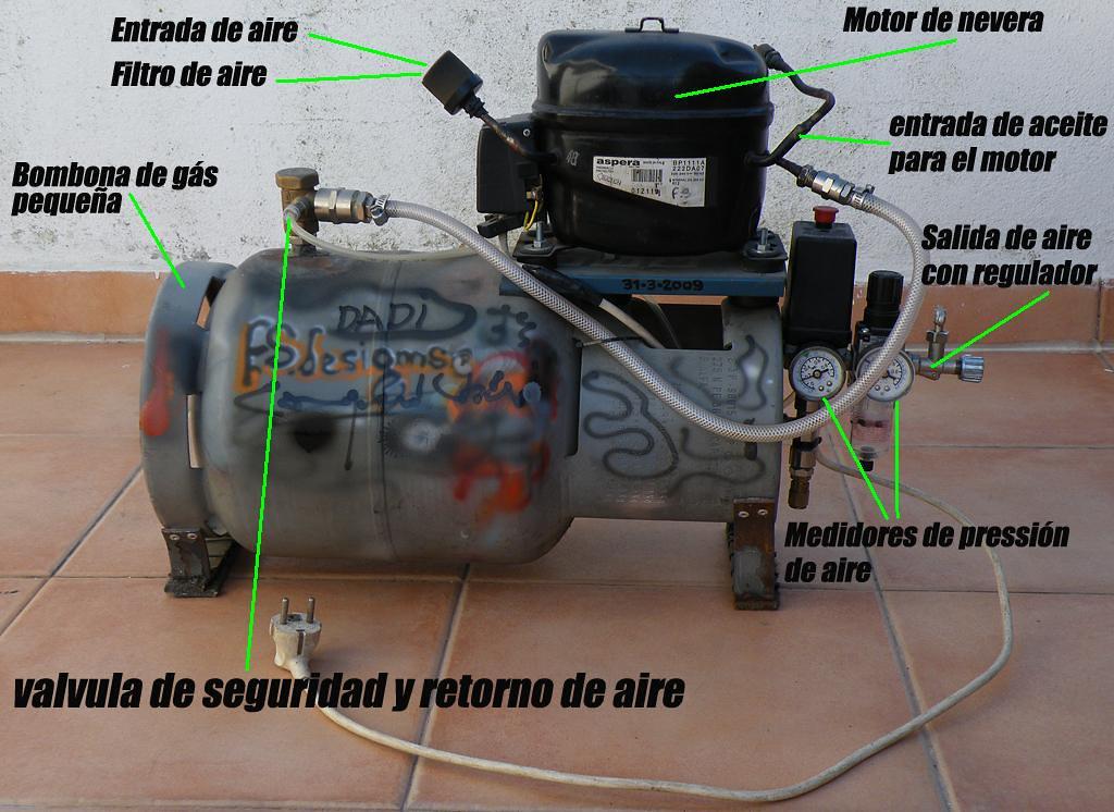 compresor de aire casero. compresor de aire silencioso ,hecho en casa!! | fernando sousa flickr casero