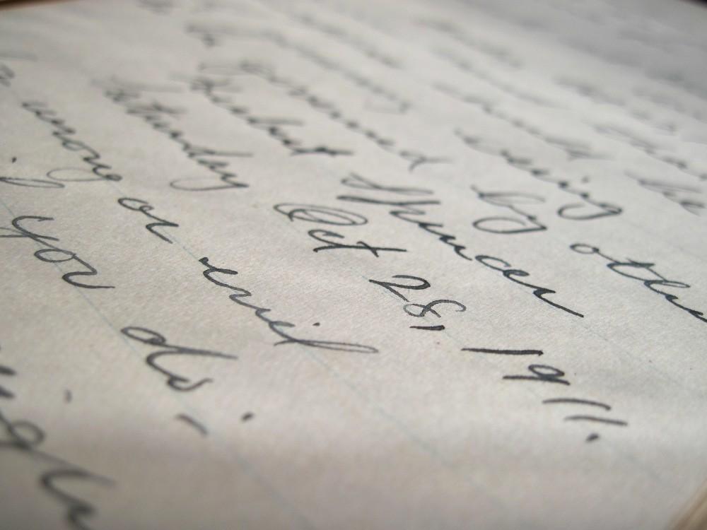 handwriting a