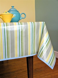 Heather Bailey Laminated Cotton tablecloth strips | by Kelly McCants