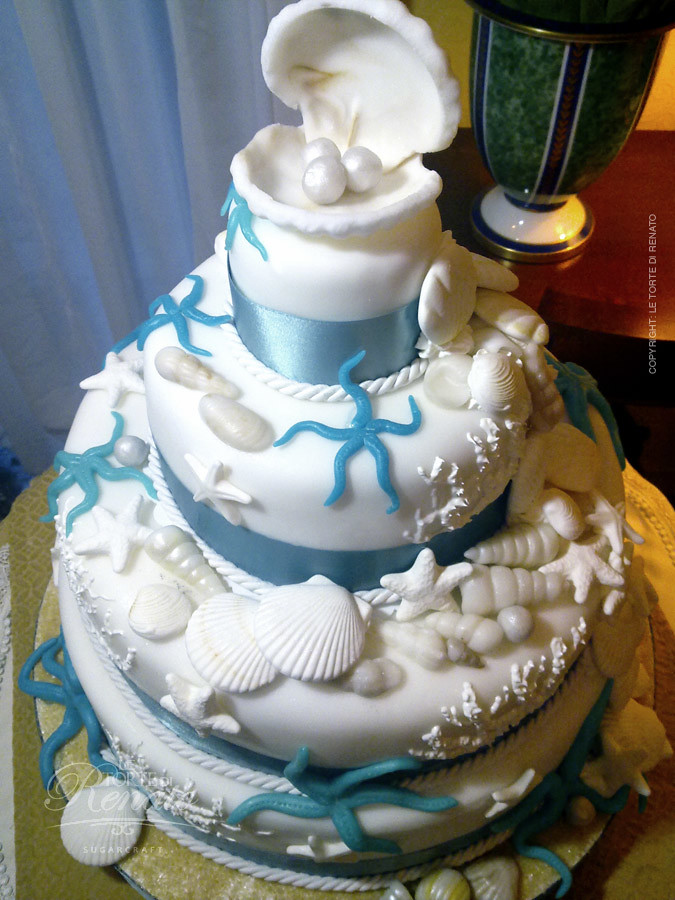 marine wedding cake ideas wedding cake marine theme una wedding cake a tema marino 17136