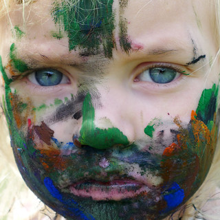 face painting with all the paint I | by L.E. Erickson