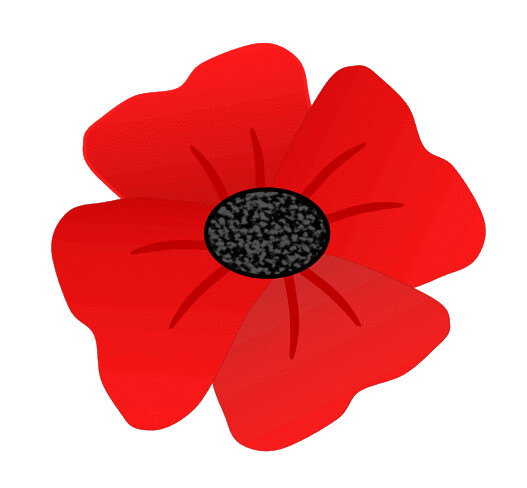 Red poppy flower clip art 8cm | This clipart drawing has ...